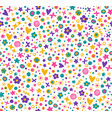cute seamless flower pattern vector image