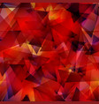 dark red gradient triangle mosaic template vector image vector image