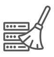 database cleaning line icon data and analytics vector image vector image