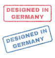 designed in germany textile stamps vector image vector image