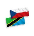 flags czech republic and tanzania on a white vector image vector image