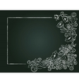 floral card hand drawn chalk flowers and leaves on vector image vector image