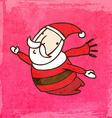 Flying Santa Claus Cartoon vector image vector image