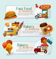 Food Delivery Banner Set vector image