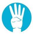 four fingers icon vector image vector image