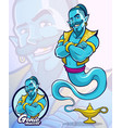 genie character for element or company mascot vector image vector image