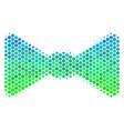 halftone blue-green bow tie icon vector image vector image