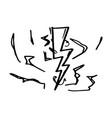 hand drawn doodle electric lightning bolt symbol vector image vector image