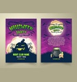 happy halloween party invitation template vector image vector image