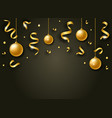 happy new year background with golden shiny vector image vector image