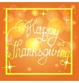 Happy thanksgiving on bokeh background vector image vector image