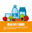 healthy foods lifestyle vector image
