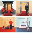 hotel staff design concept vector image vector image