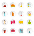 house cleaning icons set flat style vector image vector image