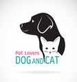 image of an dog and cat design vector image vector image