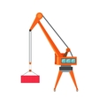 Industrial Crane Loading Container vector image