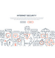 internet security - modern line design style vector image