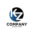 k z business company logo designs vector image vector image