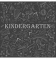 Kindergarten line art design vector image vector image