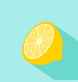 lemon flat design with long shadow vector image