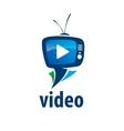 logo tv vector image
