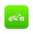 motorcycle icon digital green vector image