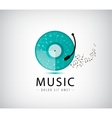 Music vinyl logo icon vector image