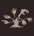 old fantasy tree vector image