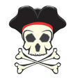 Pirate skull logo vector image