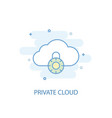 private cloud line concept simple line icon vector image vector image