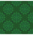 Seamless Mandala Pattern over green vector image vector image