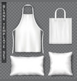 set accessories template advertising theme vector image vector image