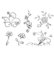 set of flowers - elements vector image vector image