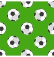 Soccer ball pattern background vector image