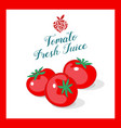tomato juice sticker vector image