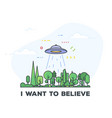 ufo abduction vector image vector image