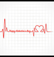 Valentine greeting with heartbeat vector image