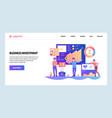 web site design template finance business vector image vector image
