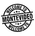 welcome to montevideo black stamp vector image vector image