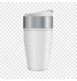 white thermos mug mockup realistic style vector image vector image