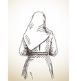 woman in scarf vector image