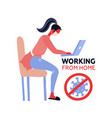 working from home coronavirus outside stay home vector image vector image