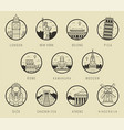 world landmarks travel and tourism landmarks vector image vector image