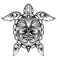 Tribal Totem Animal Turtle Tattoo vector image