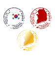 Made in South Korea stamp vector image