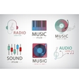 set of music logos icons signs vector image