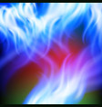 abstract rainbow blue fire background vector image vector image