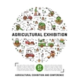 Agricultural Exhibition design template flyer vector image vector image
