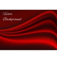 Artistic red fabric texture background vector image