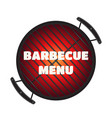 Barbecue pan bbq menu party banner flat style vector image